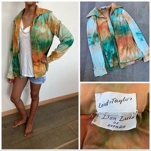 Vintage 🖤 Lord and Taylor marbles tie dye shirt